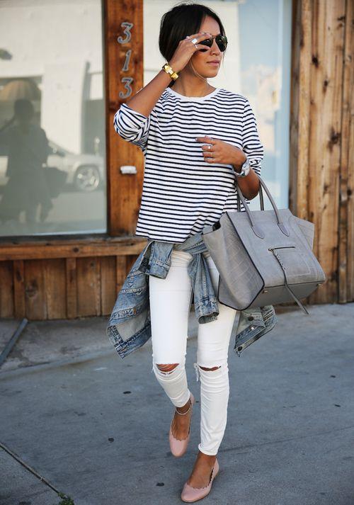 marinière jean blanc
